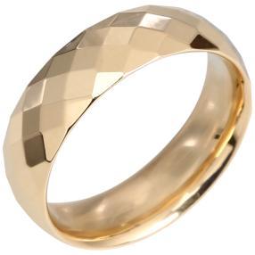 Ring facettiert 585 Gelbgold