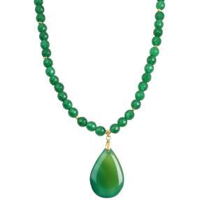 Collier Jade mit Jadetropfen