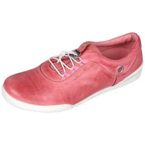Andrea Conti Leder-Sneaker rosa