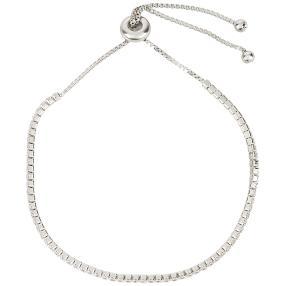 Armband 925 Sterling Silber rhodiniert, Zirkonia