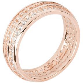 Ring 925 Silber rosévergoldet, Zirkonia