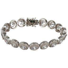 Armband 925 Silber rhodiniert, Zirkonia