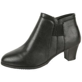 Cushion-walk® Absatz-Stiefeletten schwarz Glitzer