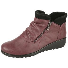 Cushion-walk® Damen-Keil-Stiefeletten burgun
