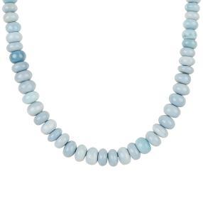 Opal Collier blau 925 Sterling Silber