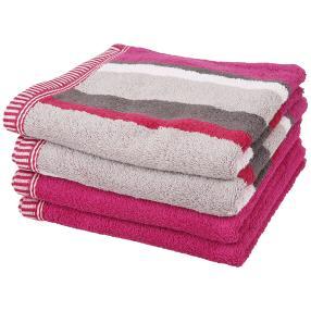 Handtuch, 4er-Set, pink, 50x100cm