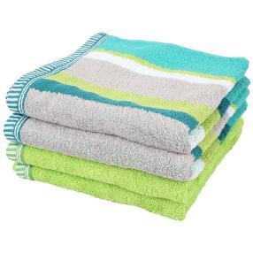 Handtuch, 4er-Set, grün, 50x100cm