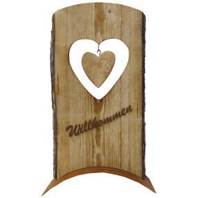 Holz-Dekoschild Willkommen, 60cm