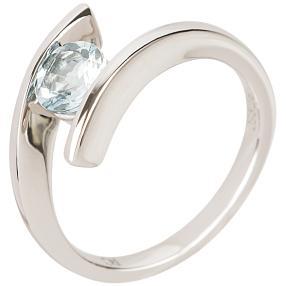 Ring 950 Platin AAA Aquamarin