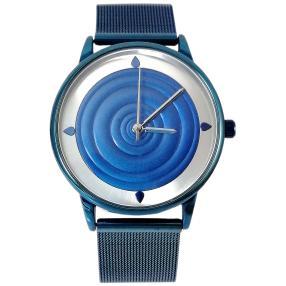 """Western Pacific Uhr """"3D-Wellen"""" blau"""