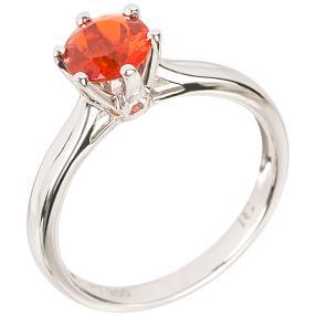 Ring 950 Platin AAA Fire Opal