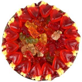 Fruchtgummi Rote-Grütze-Torte