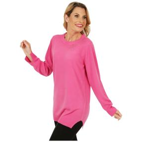 Cashmerelike by BLUE SEVEN mit Strass pink