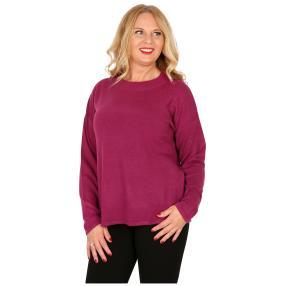 Cashmerelike Damen-Pullover mit Strass beere