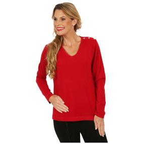Cashmerelike by BLUE SEVEN Pullover Strassk. rot