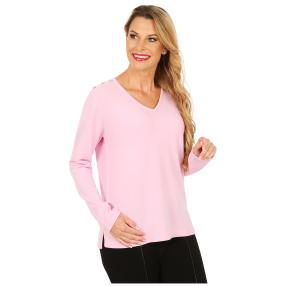 Cashmerelike by BLUE SEVEN Pullover Strasskn. rosé