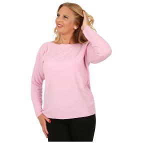 Cashmerelike Damen-Pullover U-Boot-Kragen rosé