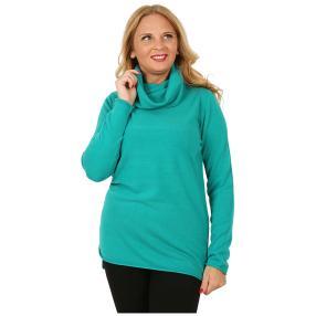 Cashmerelike Damen-Longpullover Rollkragen smaragd
