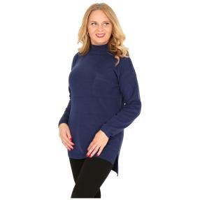 Cashmerelike Damen-Pullover, marine