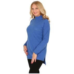 Cashmerelike Damen-Pullover Stehkragen royal