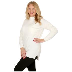 Cashmerelike Damen-Pullover Stehkragen creme