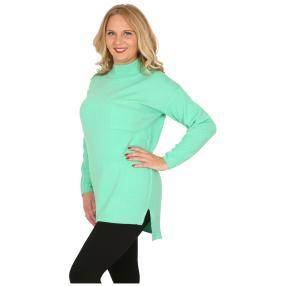 Cashmerelike Damen-Pullover Stehkragen mint