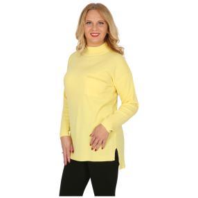Cashmerelike Damen-Pullover Stehkragen hellgelb