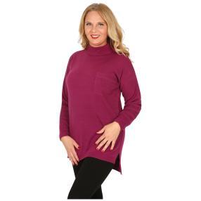 Cashmerelike Damen-Pullover Stehkragen, beere