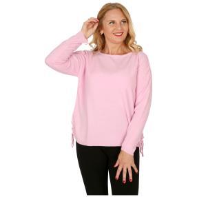 Cashmerelike Damen-Pullover mit Bändern rosé