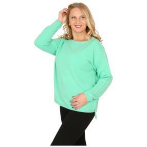Cashmerelike Damen-Pullover mit Bändern mint