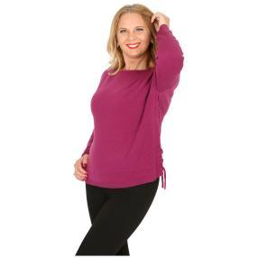 Cashmerelike Damen-Pullover mit Bändern beere