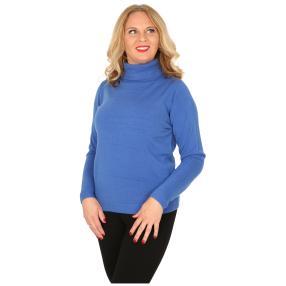 Cashmerelike Damen-Pullover Rollkragen, royal