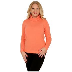 Cashmerelike Damen-Pullover, koralle