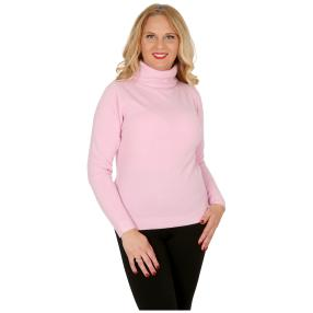 Cashmerelike Damen-Pullover Rollkragen, rosa