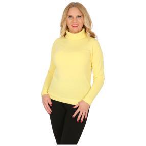 Cashmerelike Damen-Pullover Rollkragen, hellgelb