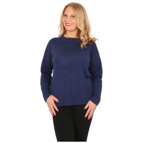 Cashmerelike Damen-Pullover mit Strass marine
