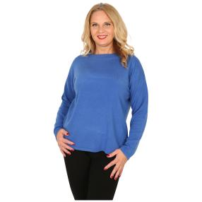 Cashmerelike Damen-Pullover mit Strass royal