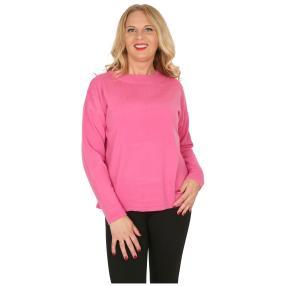 Cashmerelike Damen-Pullover mit Strass pink