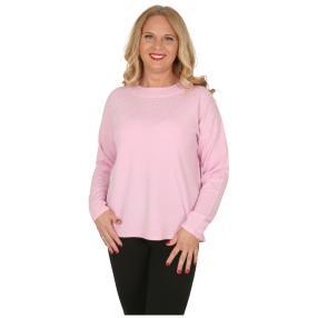 Cashmerelike Damen-Pullover mit Strass rosé