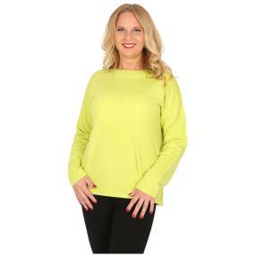 Cashmerelike Damen-Pullover mit Strass hellgrün