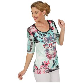 BRILLIANT SHIRTS Shirt 'Kitty Love' multicolor