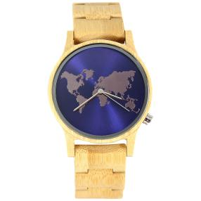 "Western Pacific Herren Holzuhr ""World"""