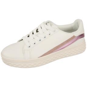 Damen Sneaker Streifen weiß