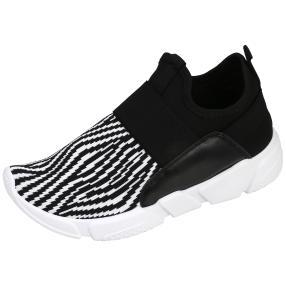 Claudia Ghizzani Damen Sneaker Zebra schwarz