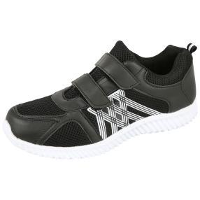 D.T. NEW YORK Herren Klett-Sneaker schwarz LW