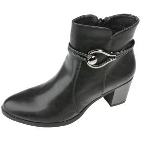IDENTITY Damen-Absatz-Stiefeletten schwarz