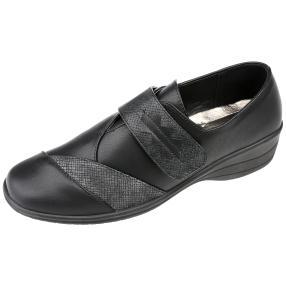 IDENTITY Damen-Klett-Slipper schwarz
