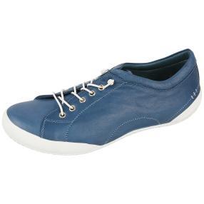 Andrea Conti Damen Leder-Schnürer jeansblau