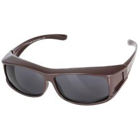 Überzieh-Sonnenbrille unisex braun