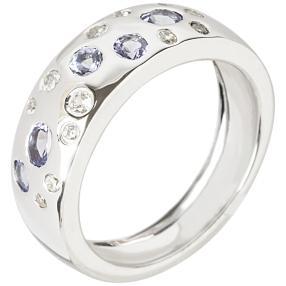 Ring 925 Sterling Silber Tansanit + Zirkon